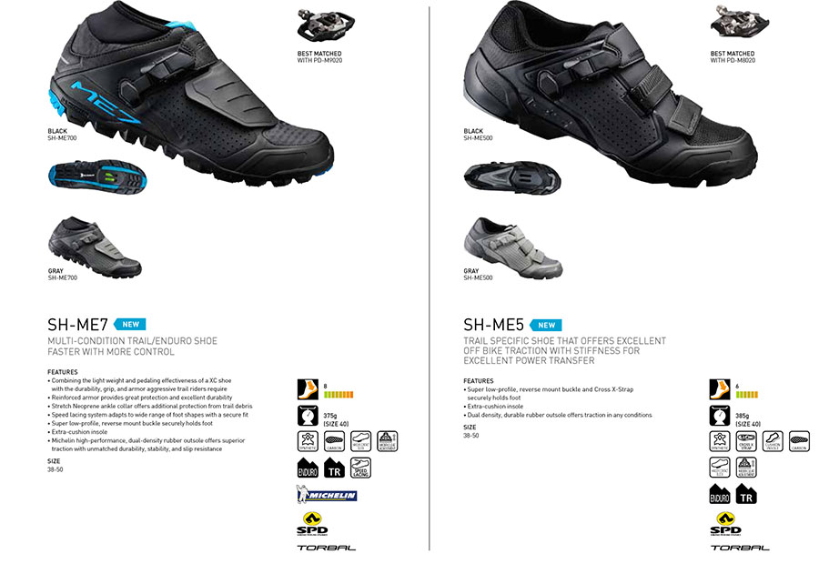 New Shimano footwear for Road, Triathlon, Cross-country, Enduro and Touring riders